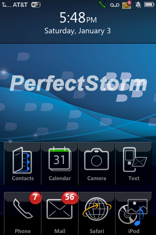 Here is a brilliant BlackBerry Storm iPhone/iPod Touch theme.