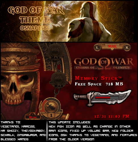 God of War PSP Theme for 5 00m33 | We Have Moved to AllTechRelated com